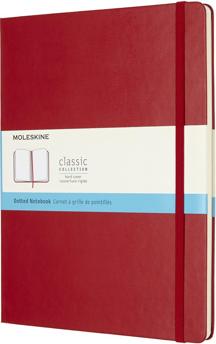 Moleskine Блокнот Classic Xlarge 19 x 25 см 96 листов в точку цвет красный