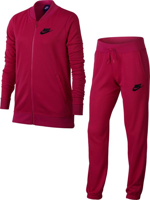 Спортивный костюм для девочки Nike G Nsw Trk Suit Tricot, цвет: розовый. 868572-615. Размер L (146/158)