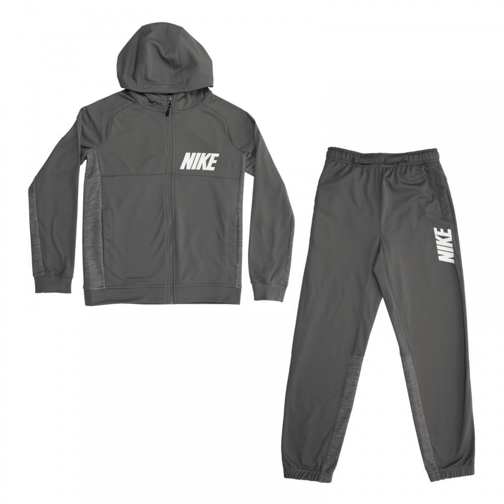 Спортивный костюм для мальчика Nike B Nsw Trk Suit Poly, цвет: серый. 872654-021. Размер L (146/158)