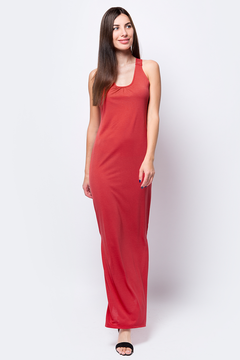 Платье United Colors of Benetton, цвет: красный. 3BYXV8335_30A. Размер XS (40/42)