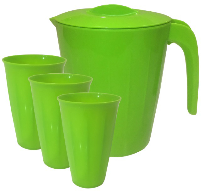 Набор Кувшин Giaretti Bono 1,9 л + стаканы 0,35 л, 3 шт, цвет: оливковая роща набор кувшин и 4 стакана lefard ромашки