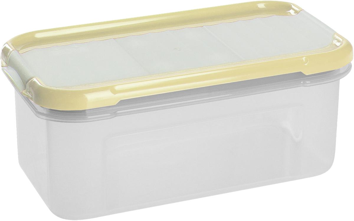 Банка для сыпучих продуктов Giaretti Krupa, с дозатором, цвет: сливочный, 0,5 л банка для сыпучих продуктов giaretti с дозатором цвет фиолетовый 2 4 л