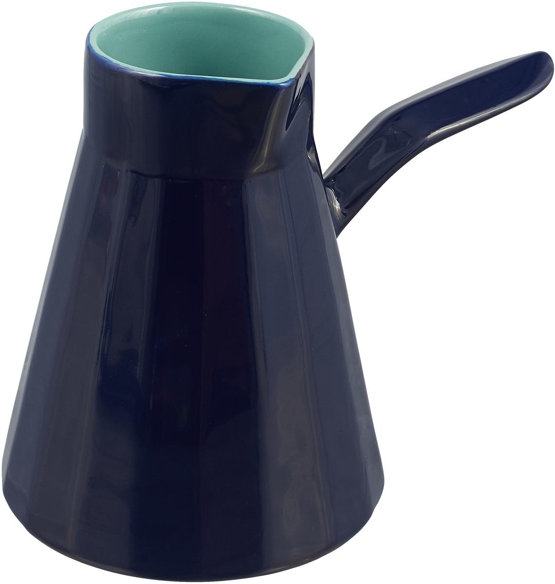 Турка Борисовская керамика Ностальгия, цвет: темно-синий, 600 мл сервиз кофейный борисовская керамика ностальгия обч14457984