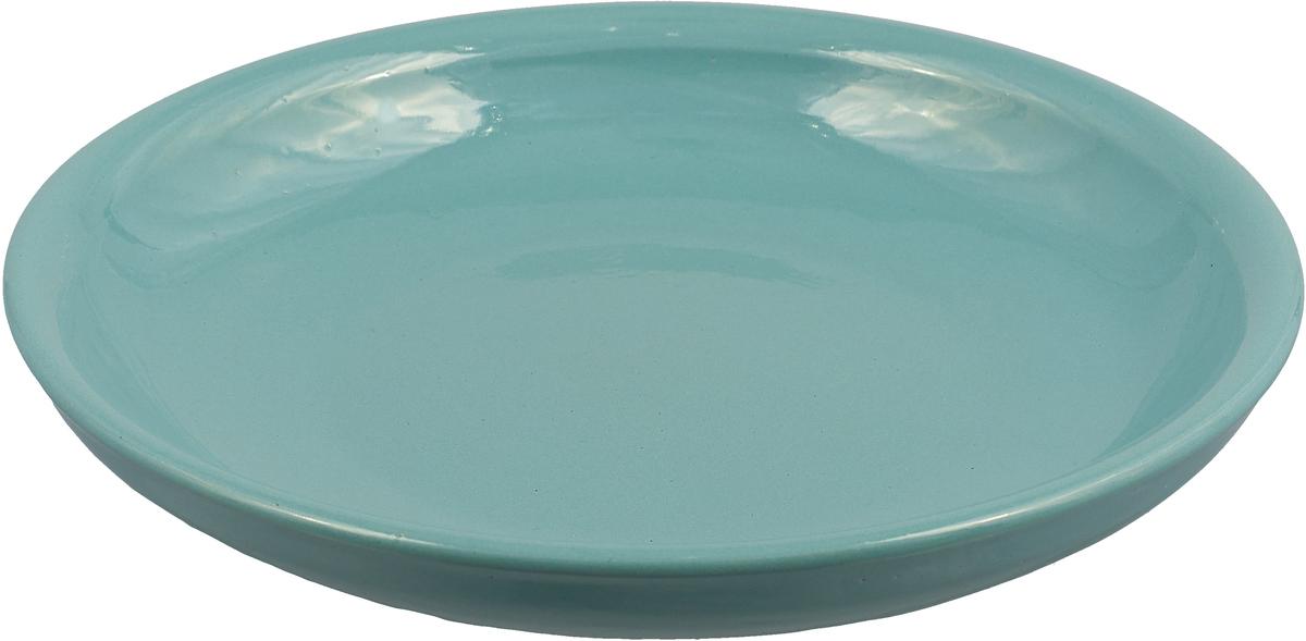 Тарелка Борисовская керамика Радуга, цвет: ментоловый, диаметр 18 смРАД00000458_ментоловый