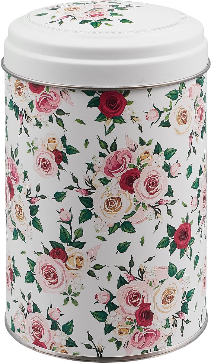 """Фото Банка для сыпучих продуктов """"Флора. Роза"""", цвет: белый, 1,1 л"""