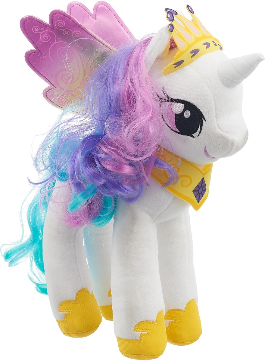 My Little Pony Мягконабивная Пони с волосами Принцесса Селестия 30 см набор свечей my little pony с держатетелем 6 см 24 шт