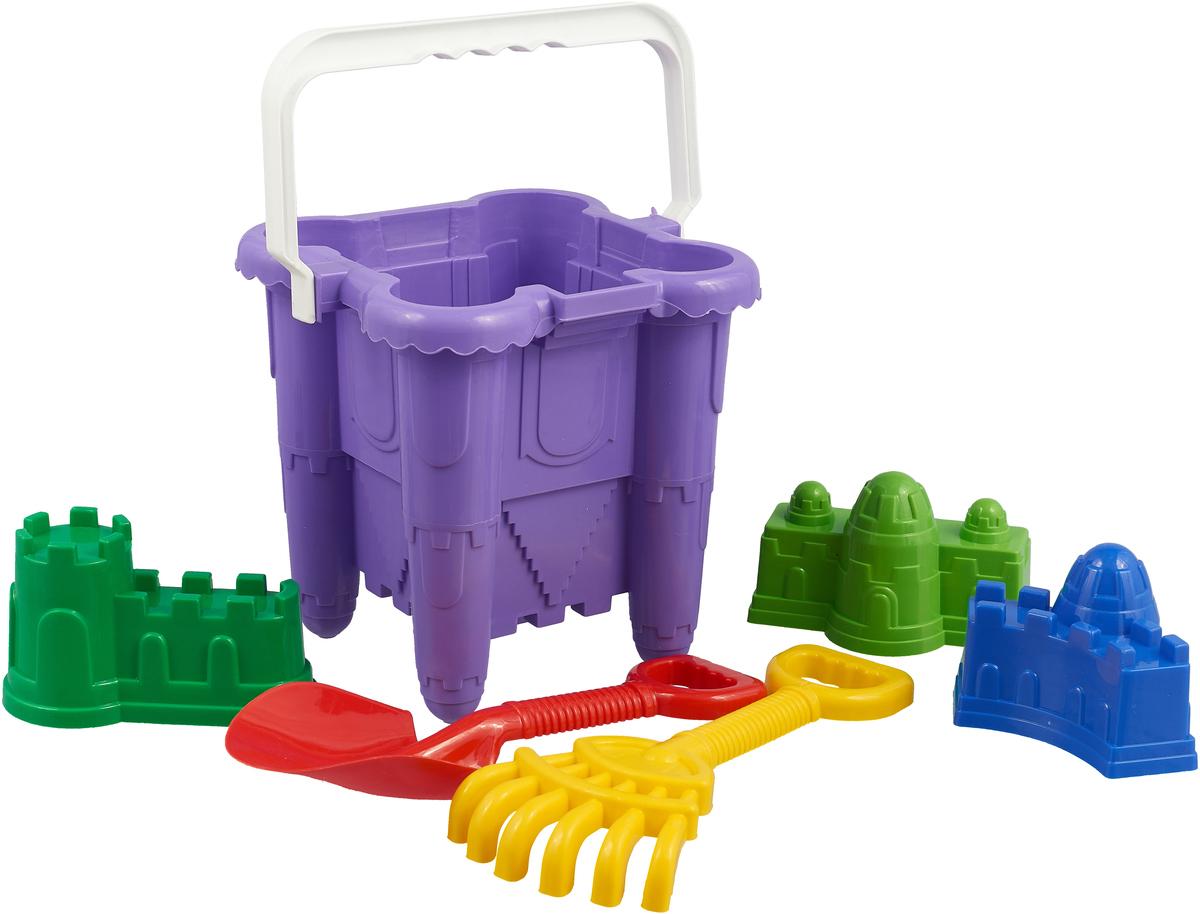 Alex Toys Песочный набор №3 6 предметов цвет фиолетовый емкость для сыпучих продуктов idea деко гжель 1 л