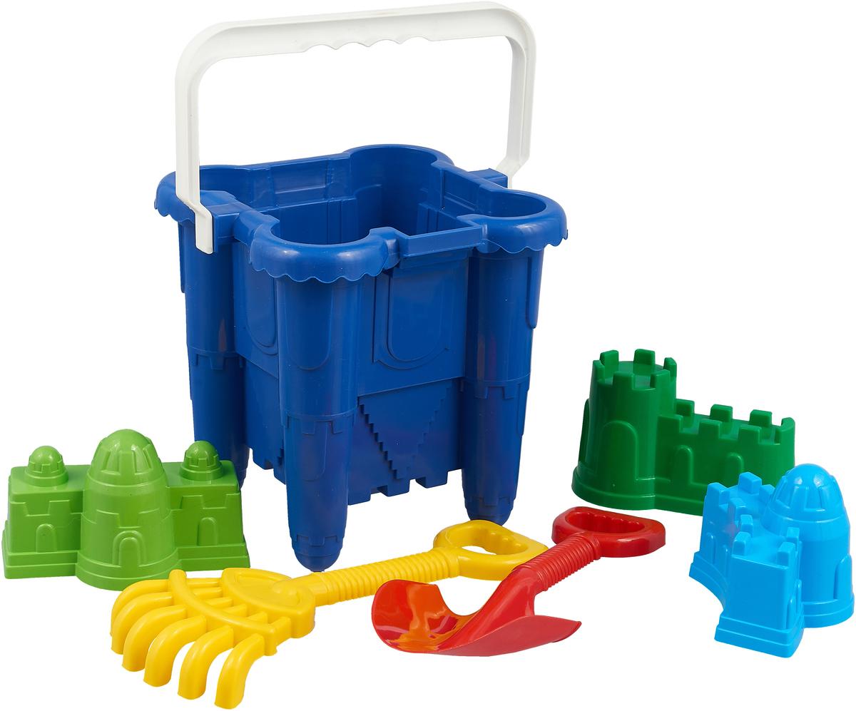 Alex Toys Песочный набор №3 6 предметов цвет синий набор кастрюль 6 предметов peterhof цвет серебристый