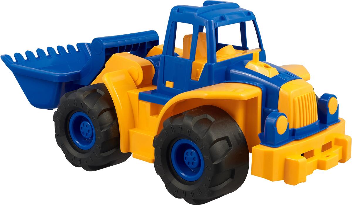 Трактор Богатырь с грейдером цвет желтый синий спортивные товары нордпласт детские салазки желтый