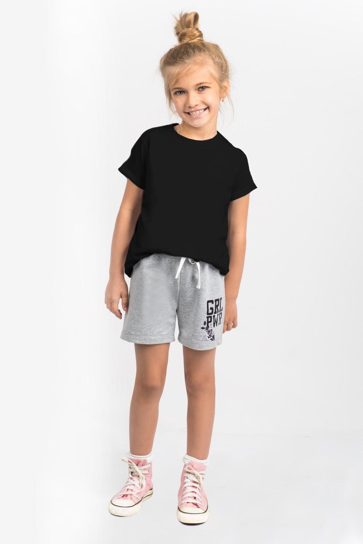 Футболка для девочки Boom!, цвет:  черный.  80382_BLG.  Размер 110/116 Boom!