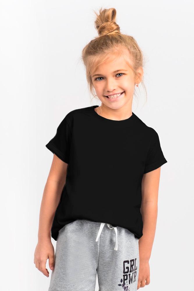 Футболка для девочки Boom!, цвет: черный. 80382_BLG. Размер 110/116