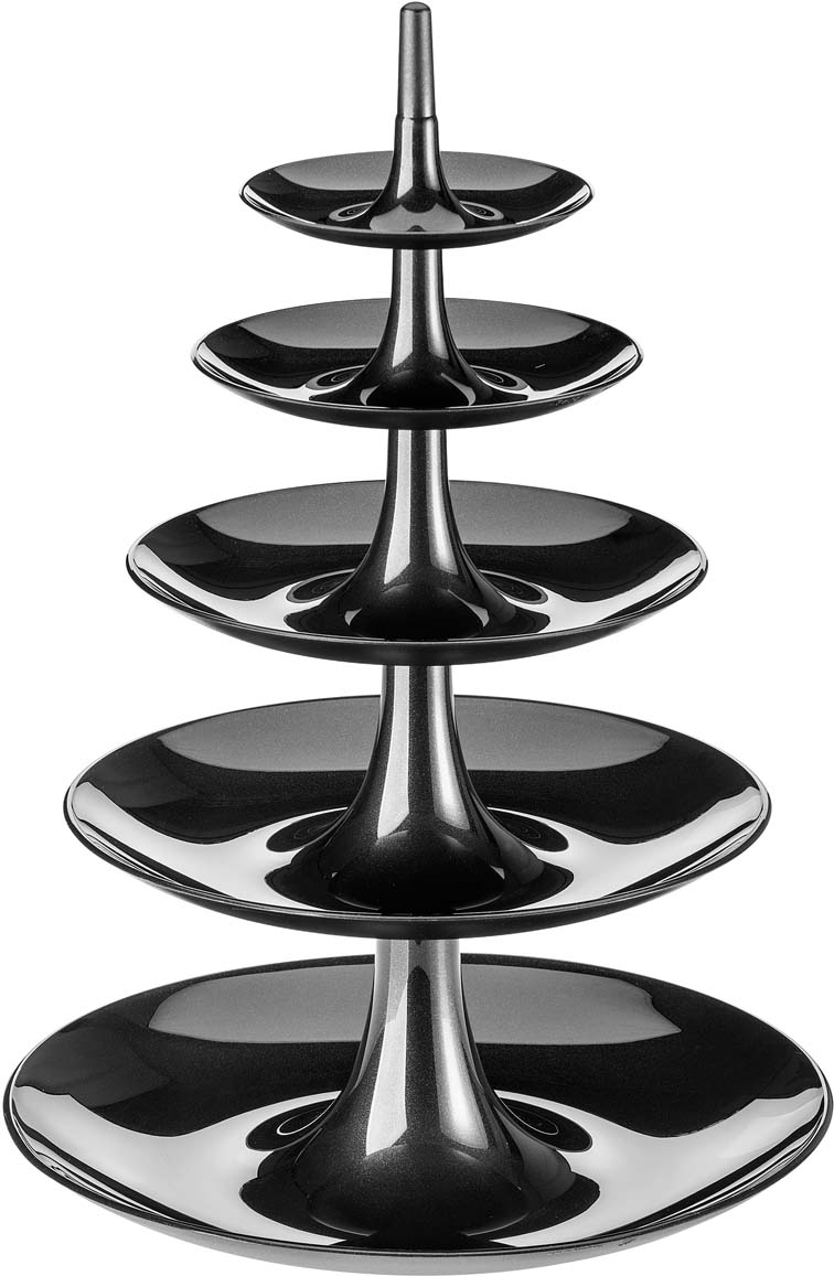Этажерка BABELL BIG поможет устроить на столе праздник изобилия: верхние ярусы можно наполнить ягодами и орехами, а на нижние уместятся даже дыни и ананасы. После использования компактно складывается в обратном порядке.Особенности:- компактное хранение