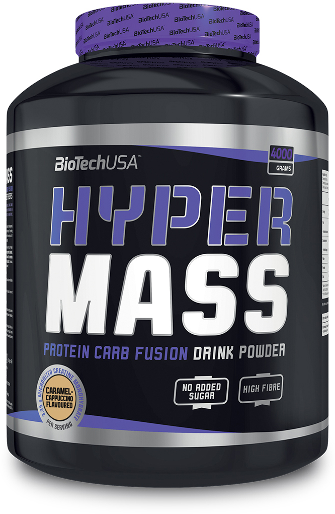Гейнер BioTech Hyper Mass, карамель-капучино, 4 кг