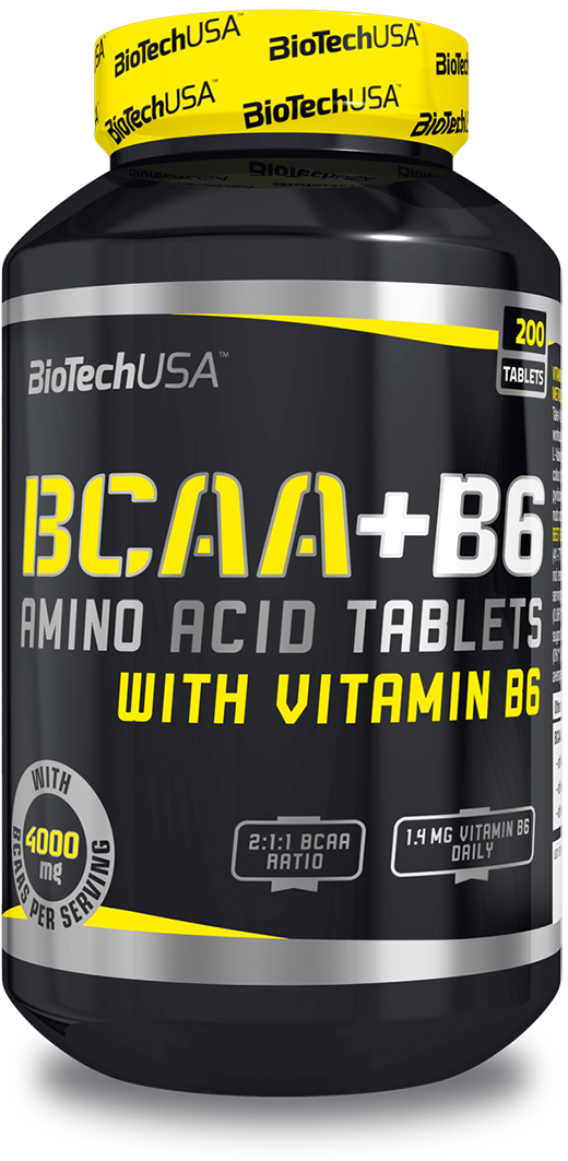 BCAA BioTech БЦА+Б6, 200 таблеток biotech витаминно минеральный комплекс biotech multivitamin for women 60табл