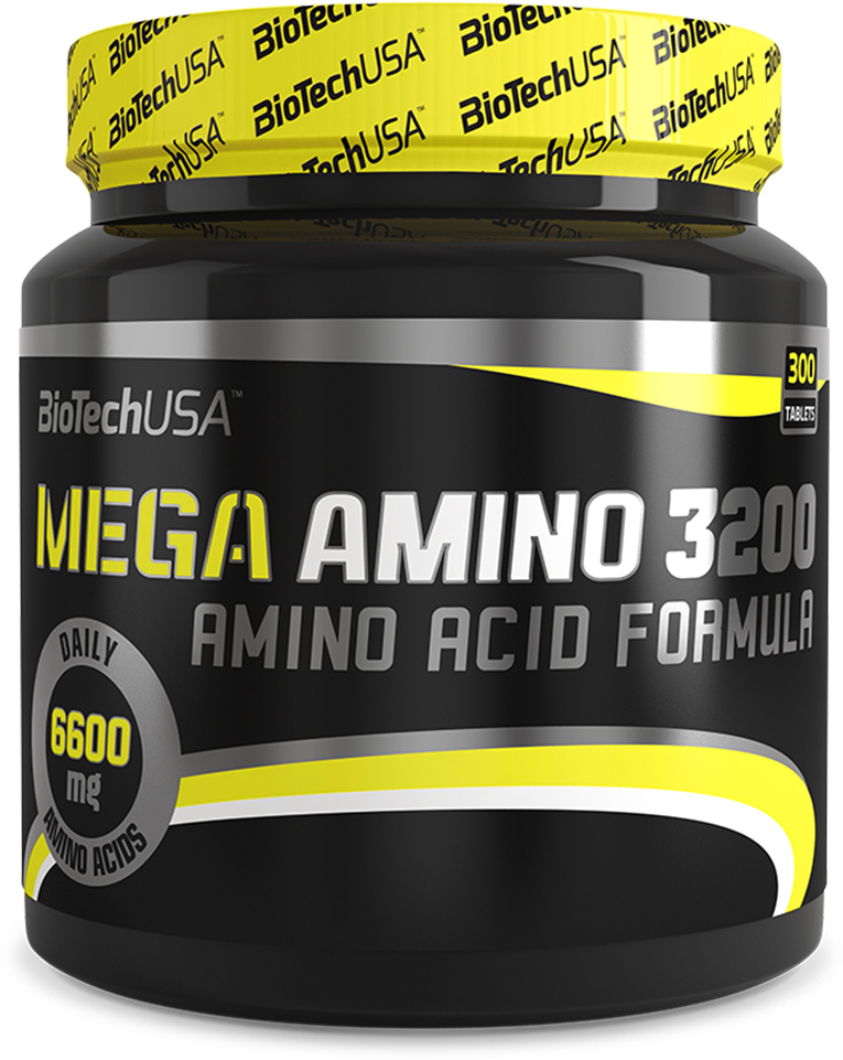 Аминокислотный комплекс BioTech Mega Amino 3200, 300 таблеток аминокислоты geneticlab аминокислоты bcaa pro груша 500 гр