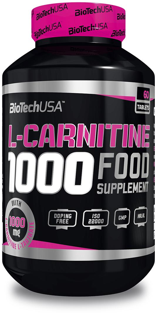 L-карнитин BioTech, 1000 мг, 60 таблеток biotech витаминно минеральный комплекс biotech multivitamin for women 60табл
