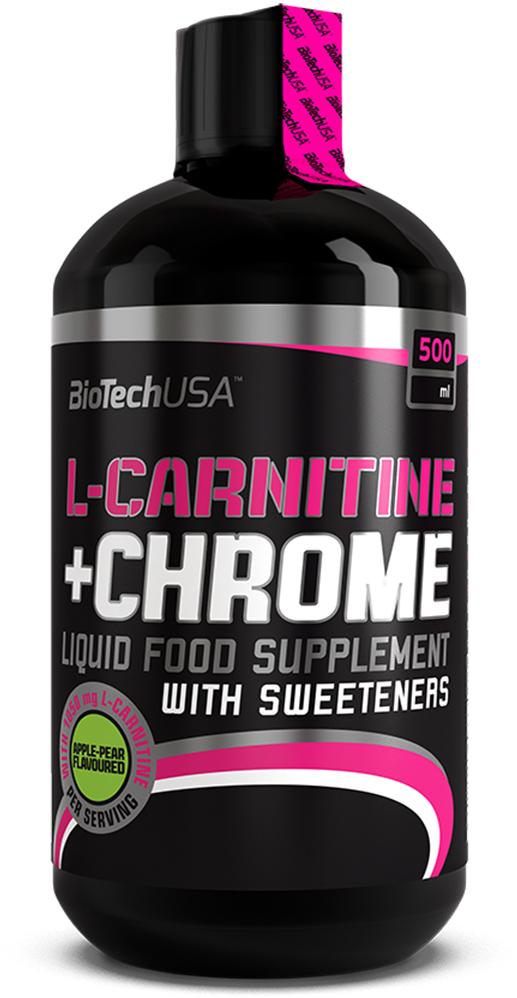 L-карнитин BioTech L-Carnitine+Chrome, груша-яблоко, 500 мл карнитин bbb l carnitine 3000 лимон 1 л