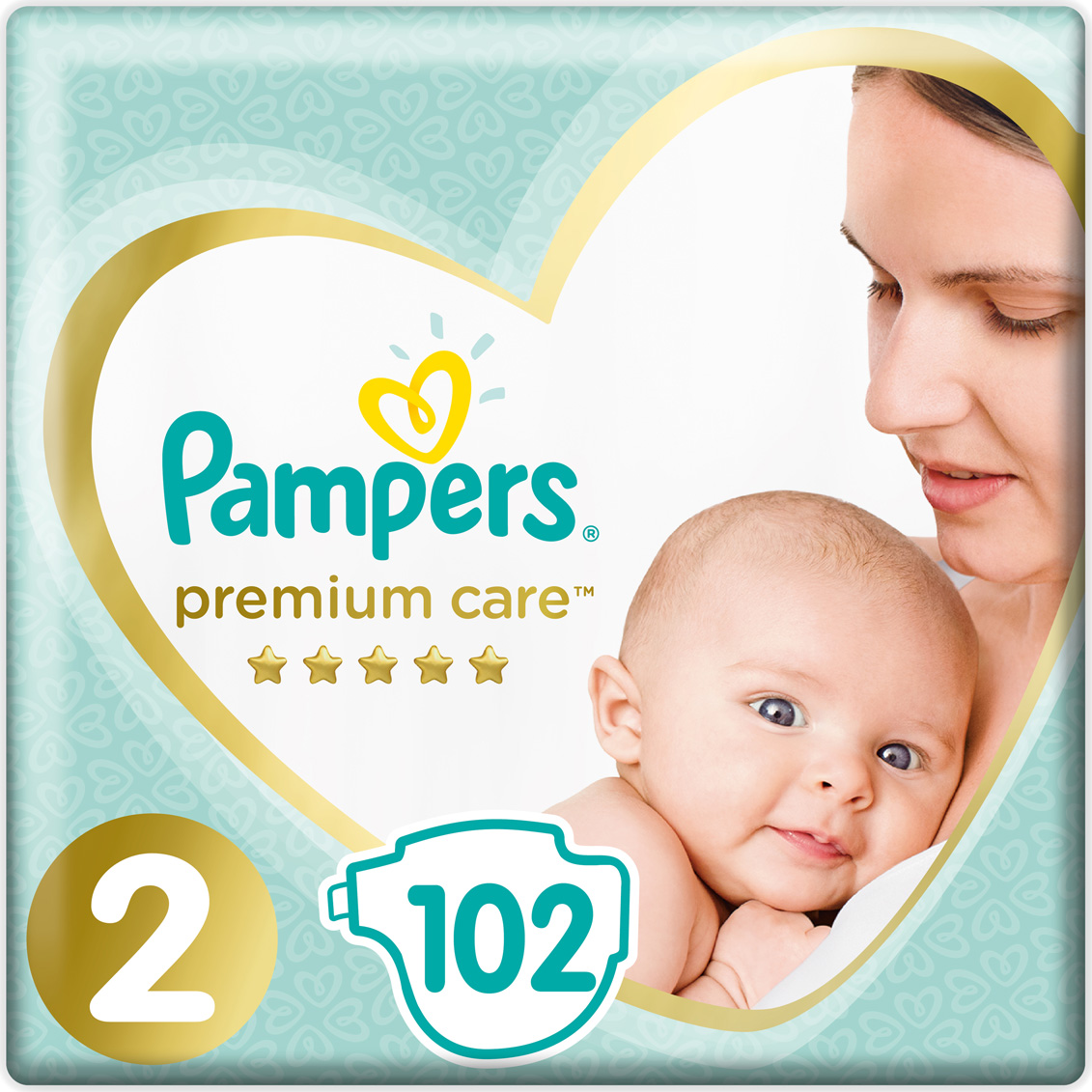 Pampers Подгузники Premium Care Mini 4-8 кг 102 шт