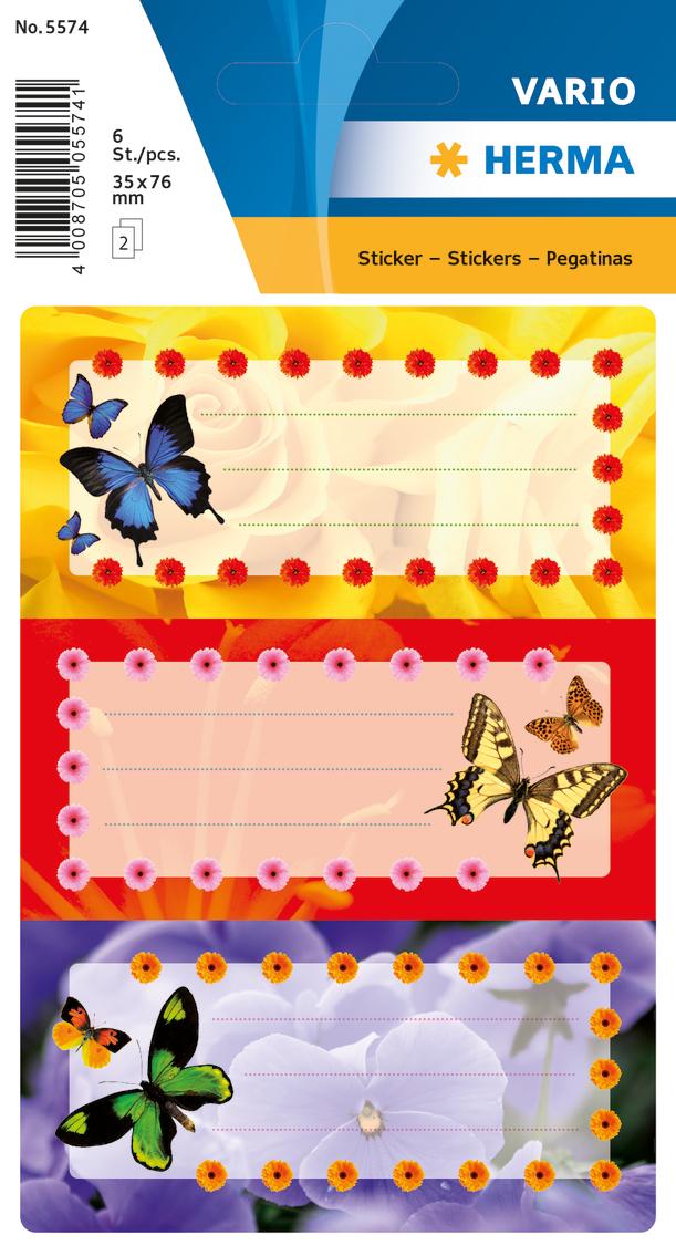 цена на Herma Наклейки Vario Цветные Бабочки