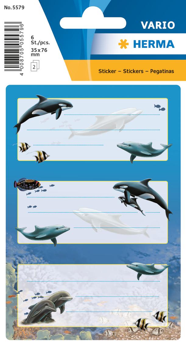 цена на Herma Наклейки Vario Дельфины