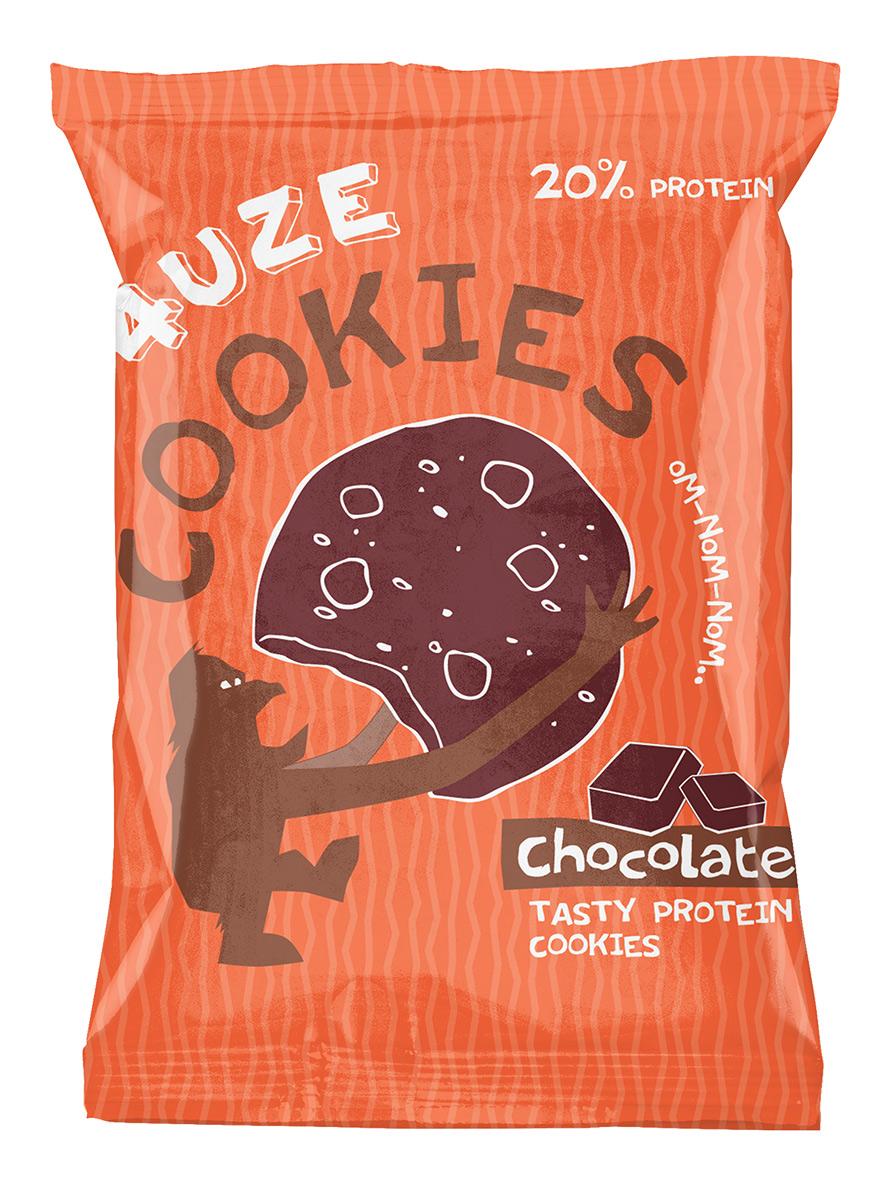 """Печенье """"Fuze Cookies"""", шоколад, 40 г"""