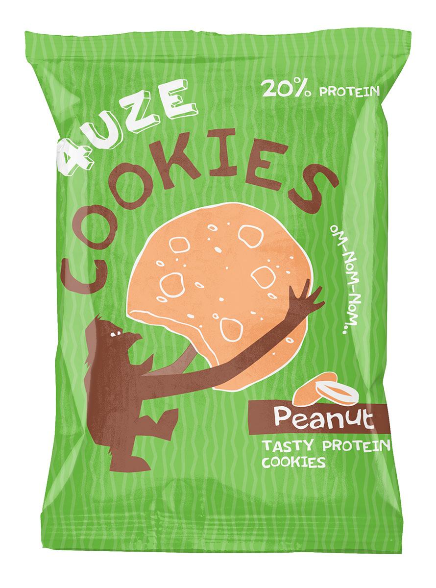 """Печенье """"Fuze Cookies"""", арахис, 40 г"""