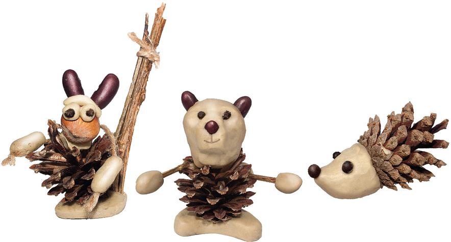 Набор для создания поделок из шишек Вondibon Животные поделки для сада из шишек