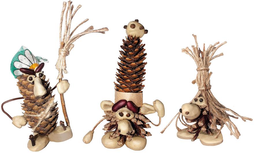 Набор для создания поделок из шишек Вondibon Сказочные создания поделки для сада из шишек