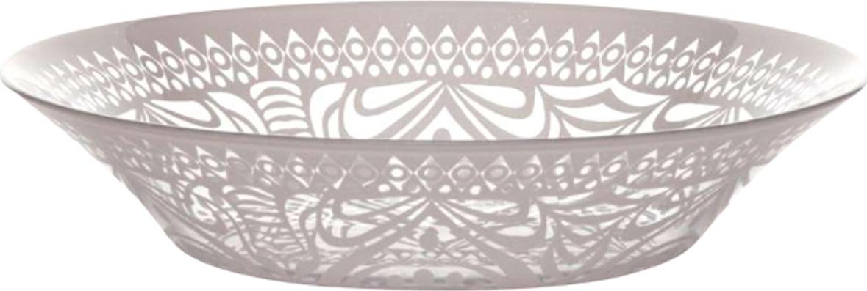 Тарелка суповая Pasabahce Boho , цвет: розовый, диаметр 22 см тарелка pasabahce холодное сердце цвет розовый диаметр 19 5 см 10327slbd26