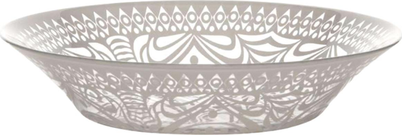 """Глубокая тарелка Pasabahce """"БОХО"""" выполнена из качественного стекла. Изящная тарелка прекрасно оформит праздничный стол и порадует вас и ваших гостей изысканным дизайном и формой. Диаметр тарелки: 22 см. Высота: 4,7 см."""