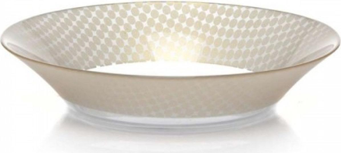 Тарелка глубокая Pasabahce Charm. Круг , цвет: бежевый, диаметр 22 см