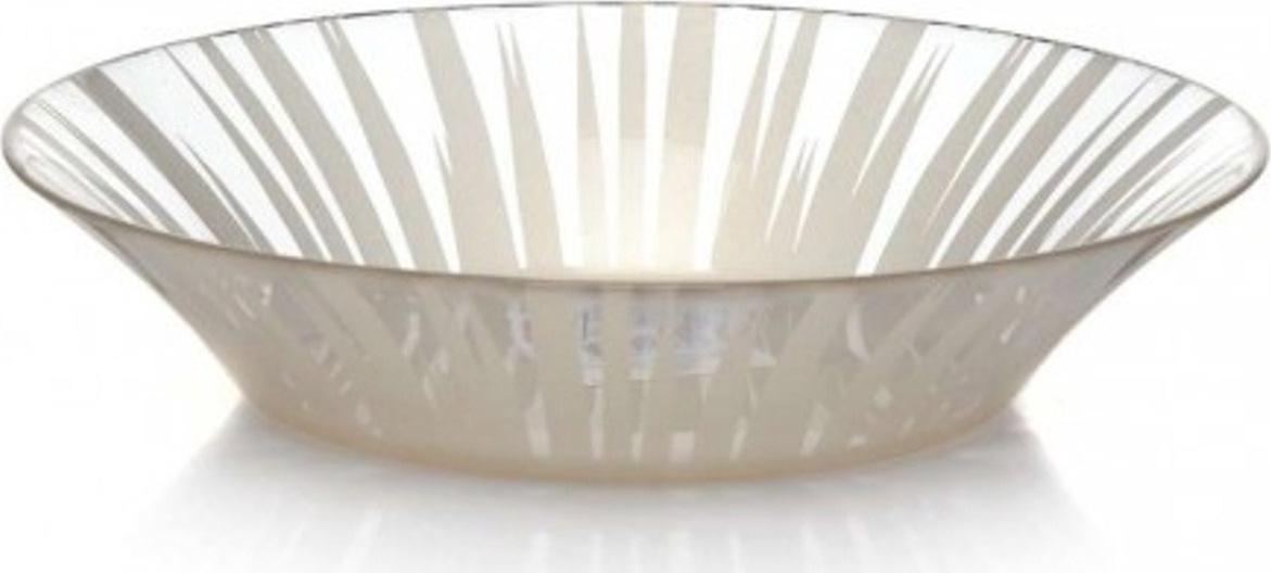 Тарелка глубокая Pasabahce Charm. Солнце , цвет: бежевый, диаметр 22 см