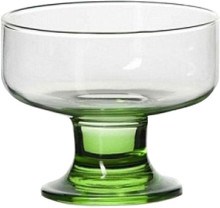 Креманка Pasabahce Enjoy green , цвет: зеленый, 10 см фужер для шампанского pasabahce enjoy orange 175 мл