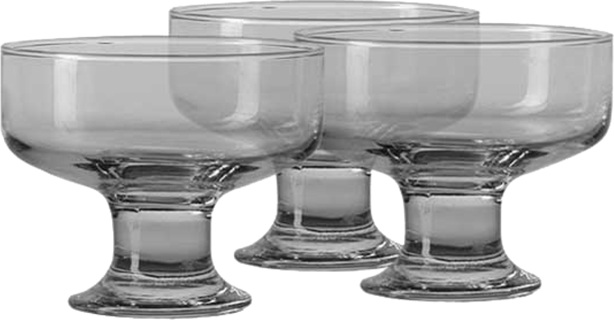 Набор креманок Pasabahce Iceville , цвет: прозрачный, 130 мл, 3 шт набор креманок buffet цвет прозрачный черный 200 мл 6 шт
