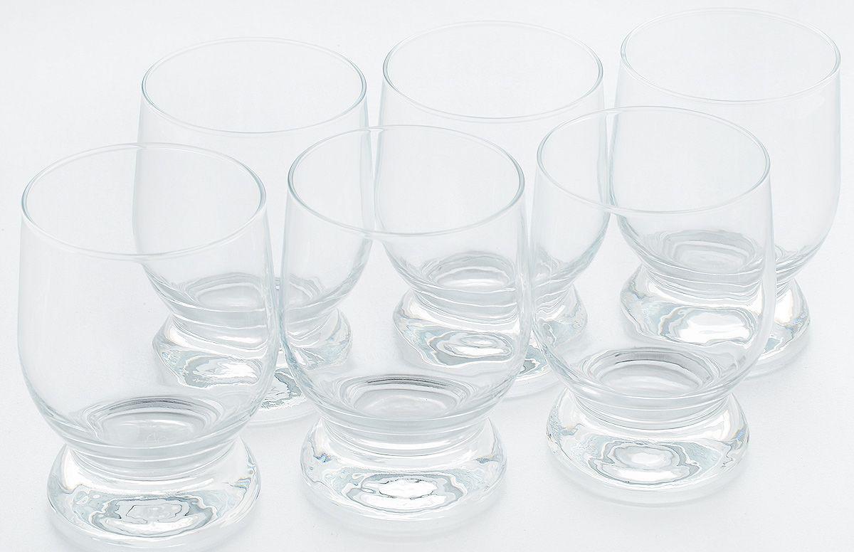 Набор стаканов Pasabahce Aguatiс , цвет: прозрачный, 315 мл, 6 шт набор одноразовых стаканов buffet biсolor цвет оранжевый желтый 200 мл 6 шт