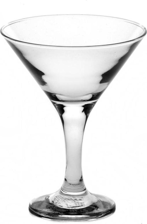 Набор фужеров для мартини Pasabahce Bistro , цвет: прозрачный, 170 мл, 6 шт набор фужеров pasabahce bistro цвет прозрачный 275 мл 6 шт