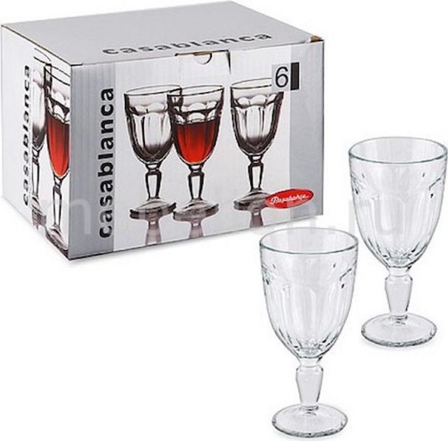 Набор фужеров для вина Pasabahce Casablanca , цвет: прозрачный, 235 мл, 6 шт набор фужеров pasabahce bistro цвет прозрачный 275 мл 6 шт