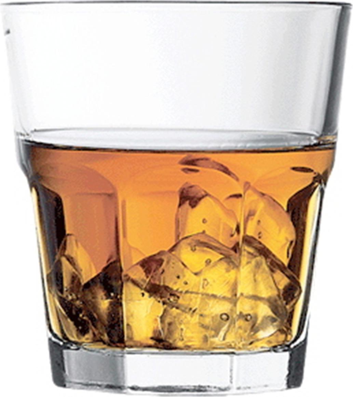 Низкий стакан Casablanca незаменим при подаче крепких спиртных напитков со льдом. Толстое дно стакана не дает льду быстро таять, а широкое горло позволяет испариться неприятным запахам спирта, оставив только аромат дорогого напитка. Граненая поверхность стакана придает ему оригинальность, делая украшение барной стойки или фуршетного стола. Двойная термическая обработка защищает края изделия от случайных сколов.