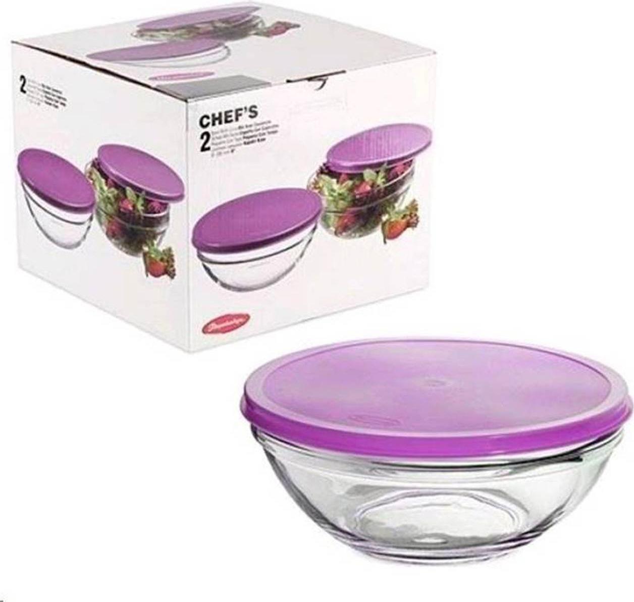 "Набор салатников Pasabahce ""Chef's"", диаметр 20 см, 2 шт"