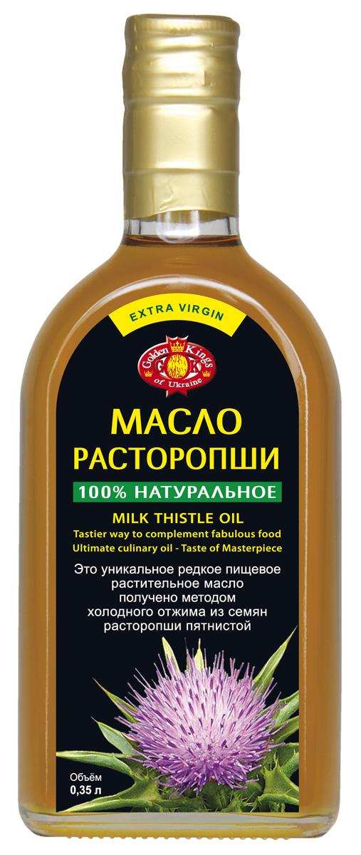 Это масло является продуктом повышенной биологической ценностью и представляет собой уникальную природную композицию полезных для человеческого организма веществ. Это ценное пищевое масло получено методом холодного отжима из семян расторопши пятнистой, обладает приятным специфическим запахом и вкусом. Применяется для заправки салатов, винегретов, всевозможных овощных блюд, заправки каш, холодных и горячих закусок.