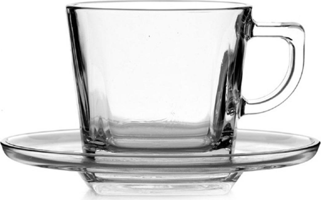 """Чайная чашка с блюдцем """"Baltic""""  изготовлены из ударопрочного стекла производства компании Pasabahce - одного из мировых лидеров в производстве посуды. Чашка в основании квадратной формы, вверху скругленные края, блюдца - круглой формы.Компания Pasabahce занимает лидирующие позиции в сфере домашней стеклопродукции как на территории Турции, так и по всему миру. На современном международном рынке посуды продукция компании Pasabahce пользуются огромной популярностью. Но не только из-за своего хорошего качества и привлекательной цены, а потому, что Pasabahce с удовольствием предлагает новую и лучшую посуду. Высокое качество, надежность, оригинальный дизайн и разнообразие изделий этих марок делают данную продукцию неотъемлемым атрибутом каждого дома."""