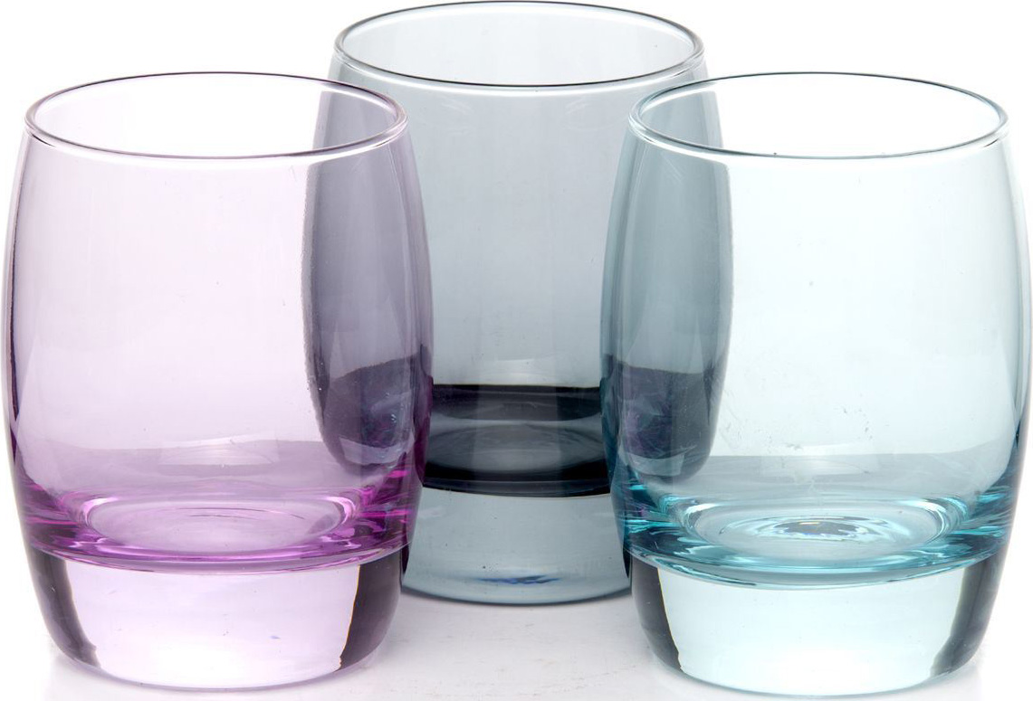 Набор стаканов Pasabahce Enjoy Loft , цвет: голубой, 330 мл, 3 шт набор стаканов pasabahce provence 290 мл 3 шт