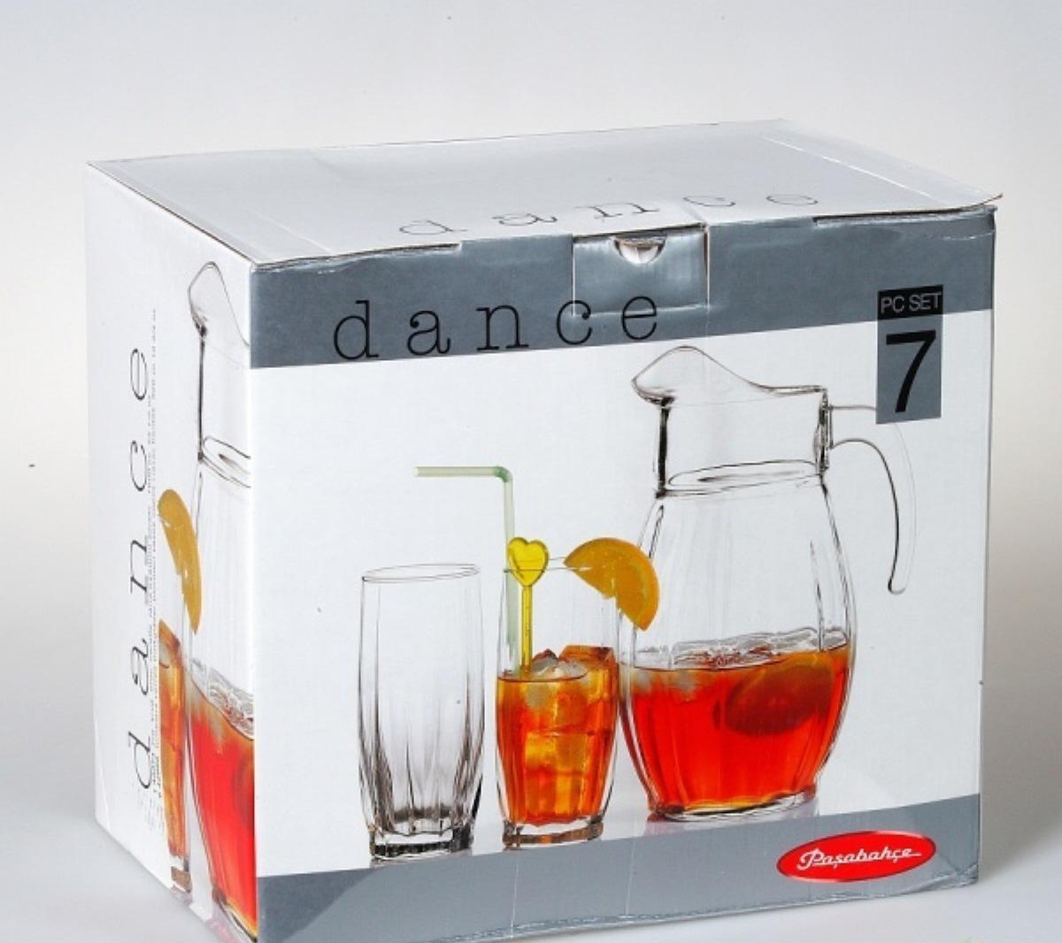 """Набор графин Pasabahce """"Dans """", цвет: прозрачный, 2000 мл, 7 шт"""
