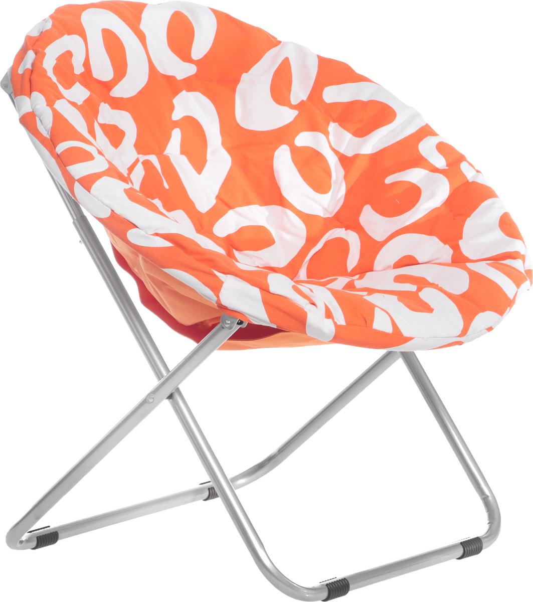 Кресло садовое Wildman, со съемным чехлом, цвет: оранжевый, 77 х 64 х 80 см
