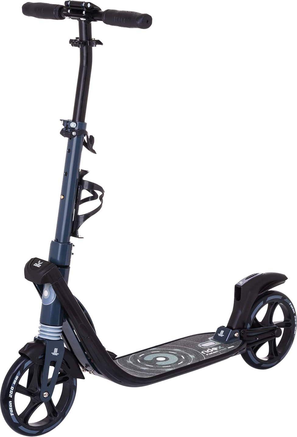 Самокат Ridex Foton, 2-х колесный, колеса 200 мм, цвет: черный двухколесные самокаты ridex stellar 200 мм