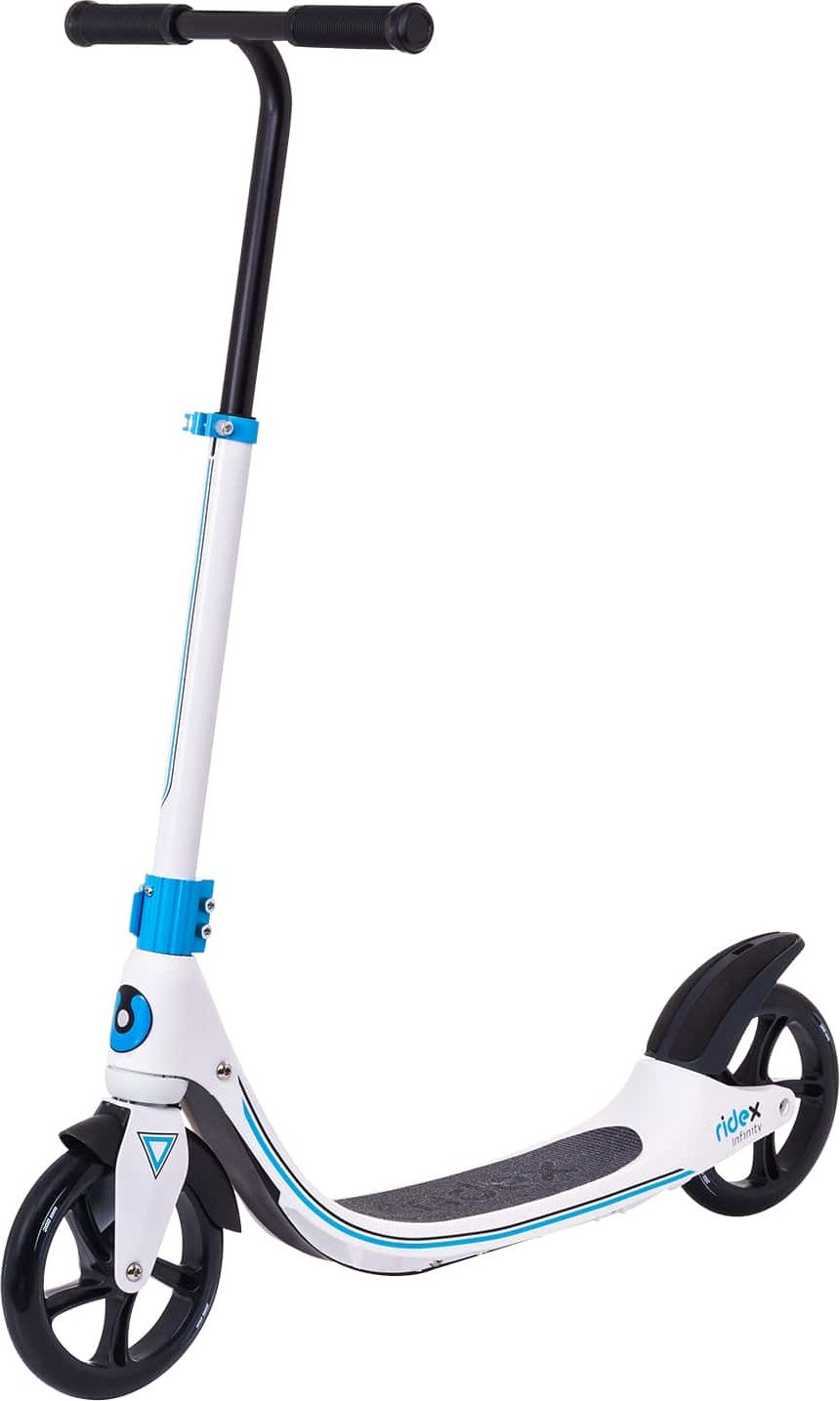 Самокат Ridex Infinity, 2-х колесный, колеса 200 мм, цвет: белый двухколесные самокаты ridex eclipse 230 200 мм