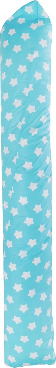 Подушка для кормящих и беременных Bio-Textiles Валик, с наволочкой, цвет: голубой