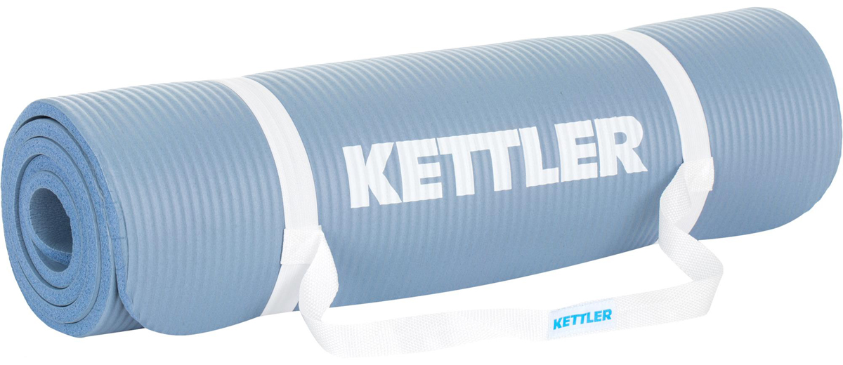 Коврик гимнастический Kettler, цвет: голубой, 173 х 61 см коврик для йоги onerun цвет зеленый 173 х 61 см