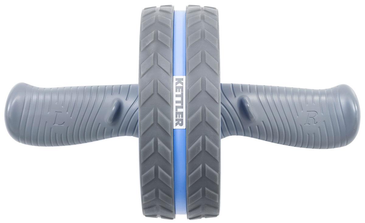 Ролик для пресса Kettler, цвет: голубой, 29 х 18 см коврик гимнастический kettler цвет голубой 173 х 61 см