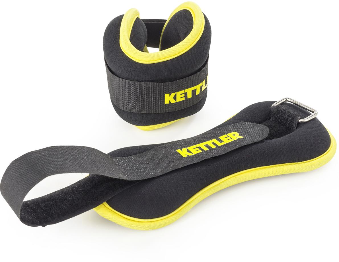 Набор утяжелителей Kettler, цвет: черный, 1 кг, 2 шт утяжелитель браслет для рук и ног indigo цвет красный 0 2 кг 2 шт